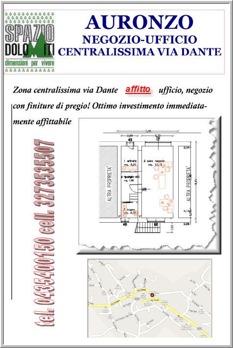 Affitto vendita negozio ufficio centro auronzo di cadore for Affitto ufficio monterotondo